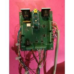 Carte en cours de câblage pour un projet personnel de pédalier pour un préampli Carvin Quad-X Amp de 1992