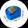 Shelly 1 relais WIFI pour Domotique dimensions