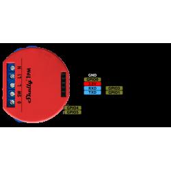 Entrées sorties du Shelly 1PM relais Wi-Fi détection température interne et mesure de puissance pour domotique home-automation