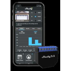 Shelly2.5 double relais Wi-Fi pour volet roulant domotique
