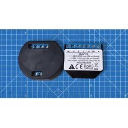 Shelly2.5 double relais Wi-Fi pour volet roulant domotique Shelly 2 à gauche, Shelly 2.5 à droite.