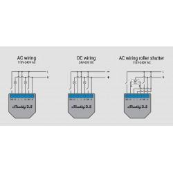 Shelly2.5 double relais Wi-Fi pour volet roulant domotique cablage