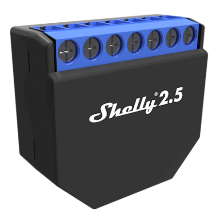 Shelly 2.5 double relais WIFI pour Domotique