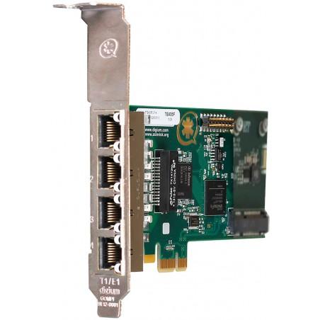 1TE435F carte PCIe 4xE1/T2 PRI EUROISDN Digium Sangoma pour Asterisk Switchvox