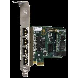 1TE435BF carte PCIe 4xE1/T2 PRI EUROISDN Digium Sangoma pour Asterisk Switchvox