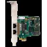 1TE235F carte PCIe 2xE1/T2 PRI EUROISDN Digium Sangoma pour Asterisk Switchvox