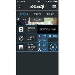 Shelly Cloud, depuis un iPhone rideau en mouvement