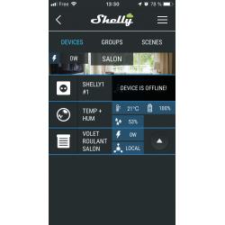 Shelly Cloud, depuis un iPhone