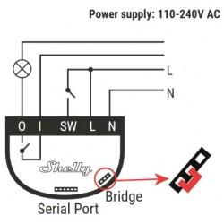 Shelly1 relais WIFI pour Domotique I/O alimenté en courant secteur alternatif 220Vac