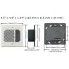 8201 interphone SIP Algo dimensions