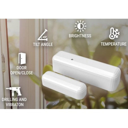 Shelly DW Door Window WiFi sensor ouverture de porte luminosité pour Domotique Home-Automation MQTT
