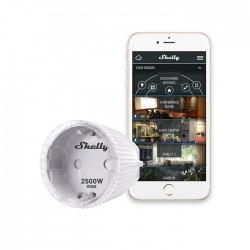 Shelly Plug-S prise relais Wi-Fi détection température interne et mesure de puissance pour domotique home-automation