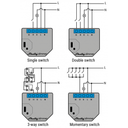 Shelly Dimmer/SL WiFi variateur pour Domotique Home-Automation MQTT cablage