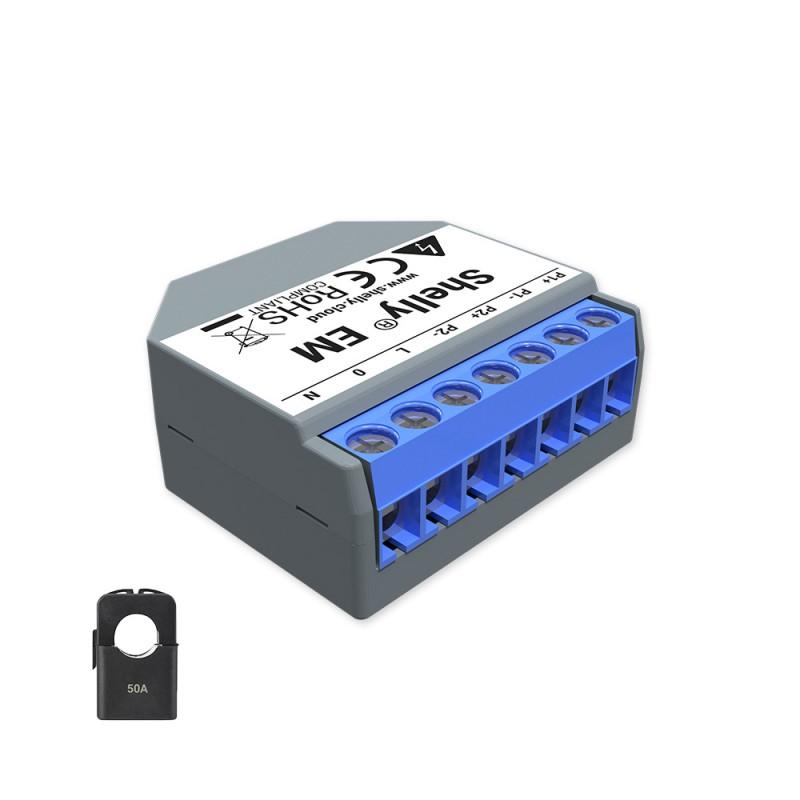 Shelly EM amperemetre domotique smart home automation maison connectee