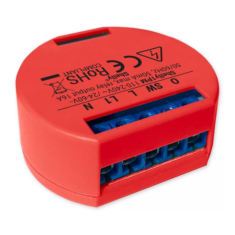 Shelly 1PM relais Wi-Fi détection température interne et mesure de puissance pour domotique home-automation
