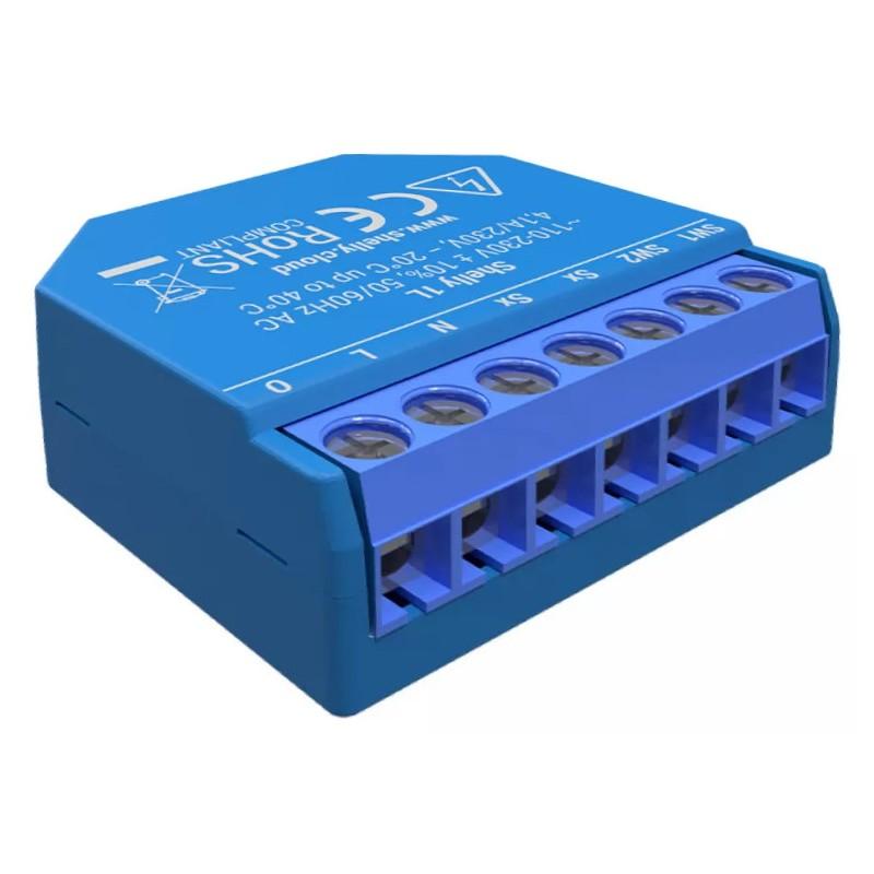 Shelly1L relais WIFI pour Domotique MQTT home automation
