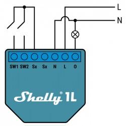 Shelly1L relais WIFI  cablage pour Domotique MQTT home automation