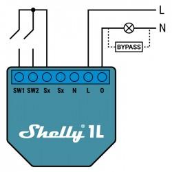 Shelly1L relais WIFI cablage sans neutre pour Domotique MQTT home automation